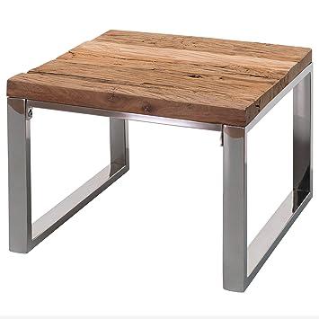 Finebuy Design Couchtisch Praya 60 X 47 X 60 Cm Aus Recyceltem Holz