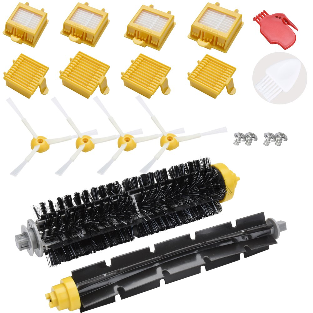 Loveco 12 Pcs Replacement Side Brush & 1 Pc Cleaning Tool for iRobot Roomba 600 Series 650 651 660 670 680 700 Series 760 770 780 790 Vacuum Cleaner