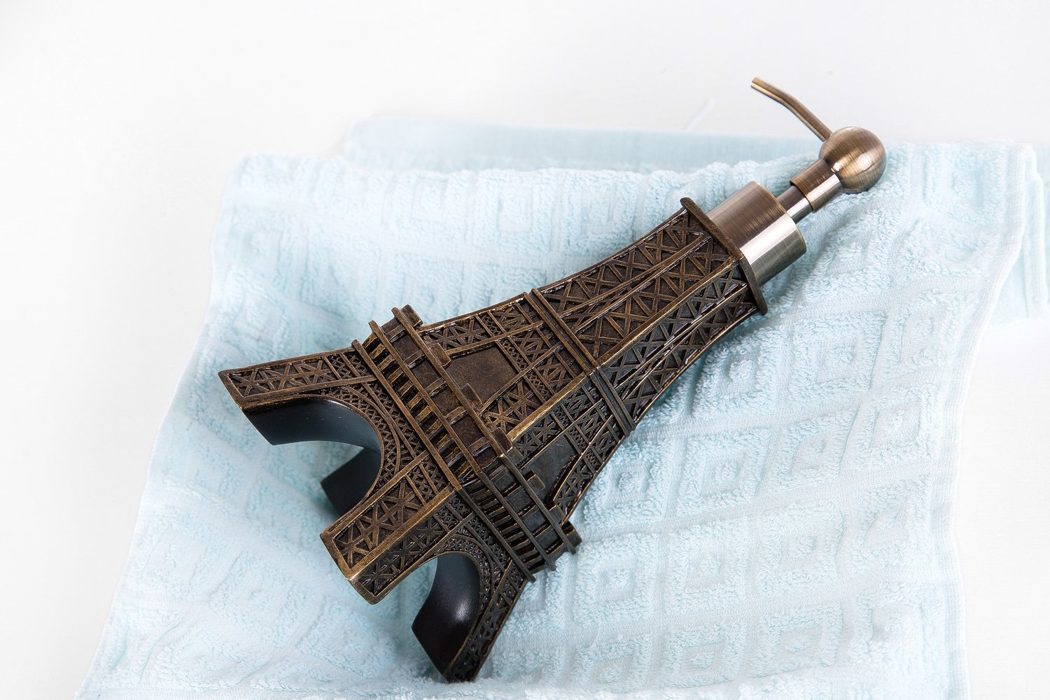 SILOKO 3D Eiffel Tower Metal Pump Soap Dispenser for Kitchen or Bathroom Bronze by SILOKO (Image #2)