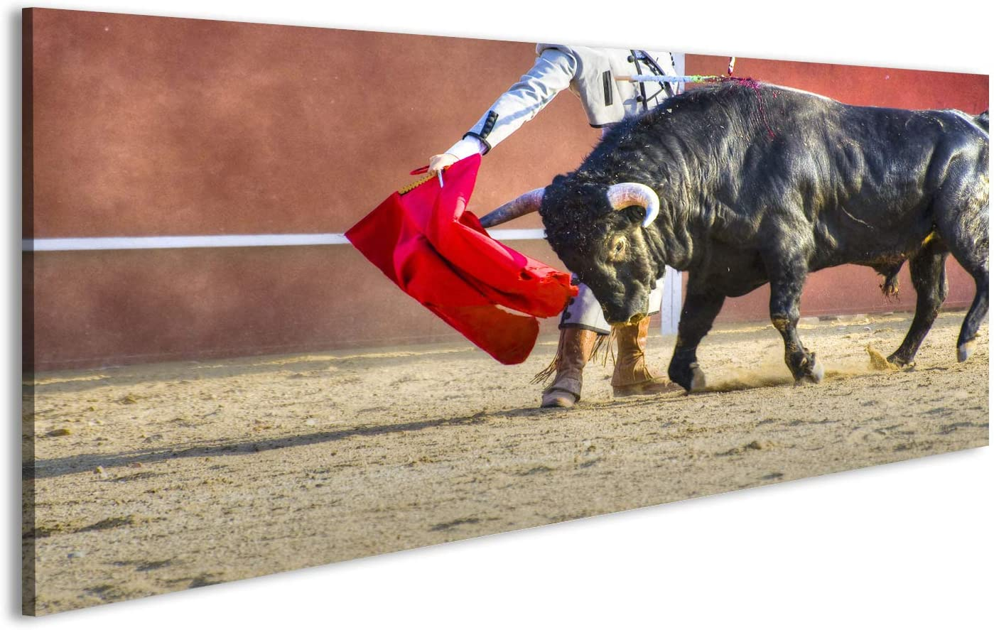 islandburner Cuadro Cuadros Lucha contra la Imagen del Toro de España. Toronegro Impresión sobre Lienzo - Formato Grande - Cuadros Modernos CWR: Amazon.es: Hogar
