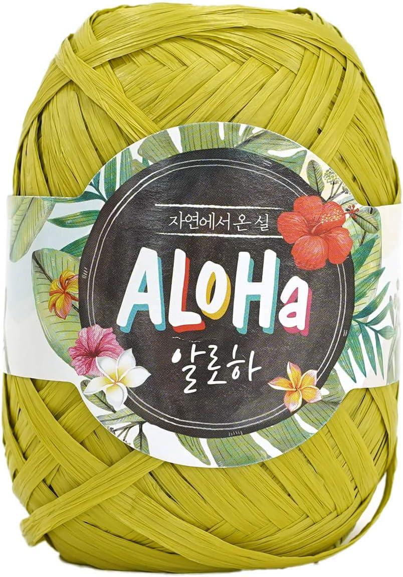 Glossy Aloha Raffia Ribbon Yarn for Hat /& Bag Polynosic Rayon 100/%
