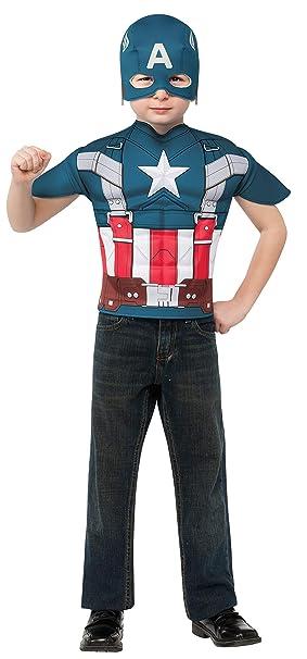 Kit disfraz de Capitán América retro para niño - 5-7 años: Amazon ...