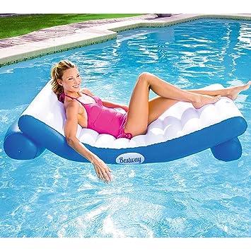 Alta calidad Piscina de flotación Cama flotante Tumbonas inflables de agua de playa Flotador de piscina ...