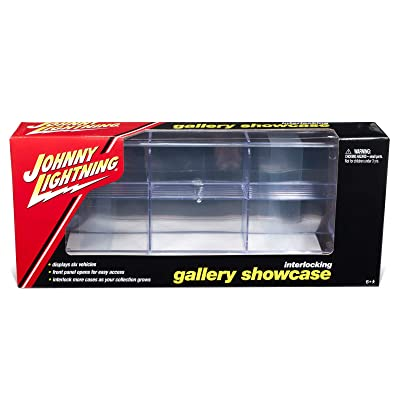 6 Car Interlocking Acrylic Display Show Case for 1/64 Scale Model Cars by Johnny Lightning JLDC001: Toys & Games
