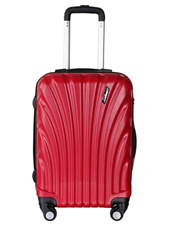 Americano Challenger Hard Sided Polypropylene Check in Luggage Luminous Red 24 Inch Trolley