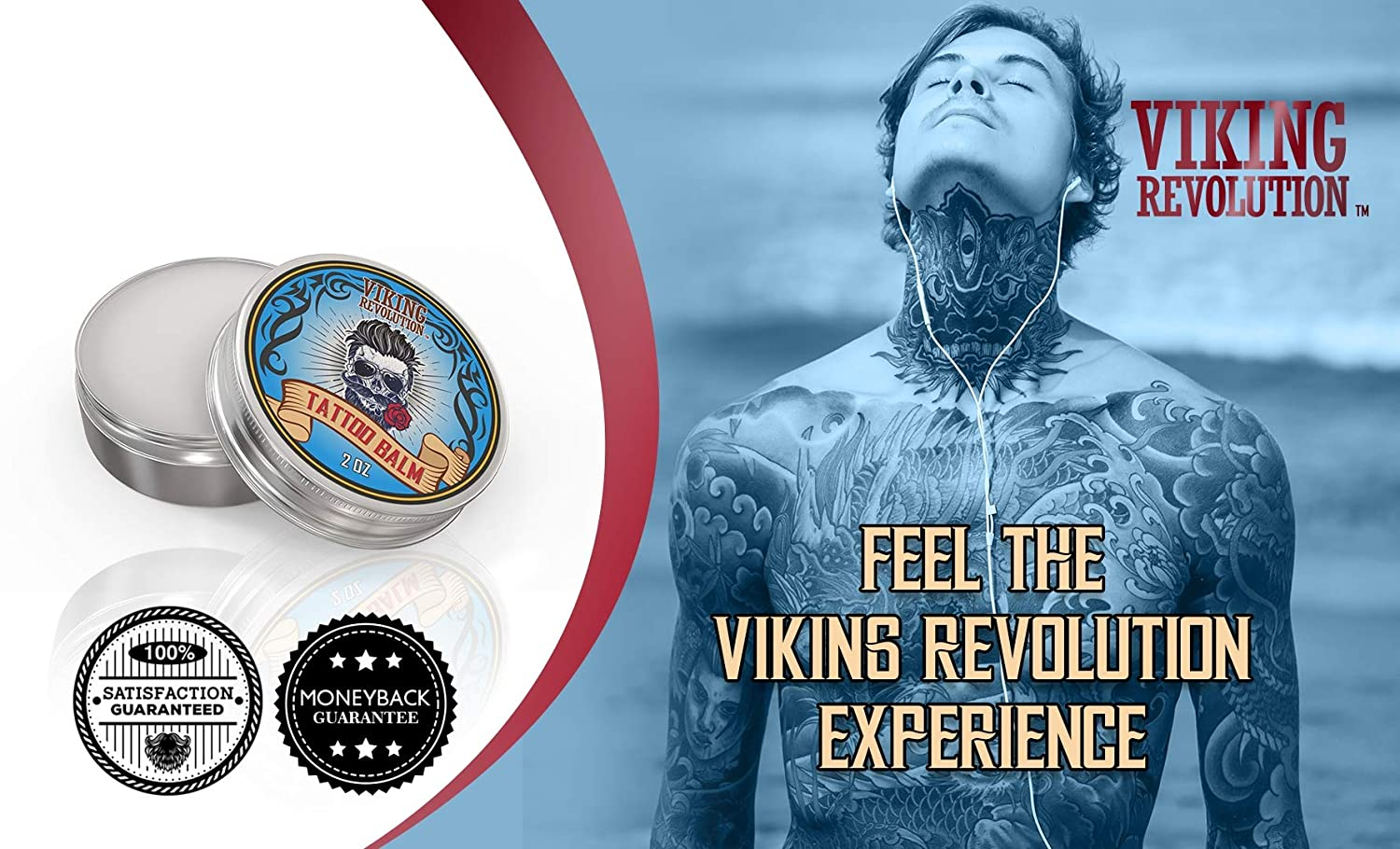 Amazon.com: Viking Revolution Vegan Tattoo Care Balm for Before, During & Post Tattoo – Safe, Natural Tattoo Aftercare Cream – Moisturizing Lotion to ...