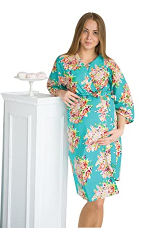 My Growing Belly Teal Maternity Robe - Perfect as Hospital Gown ...