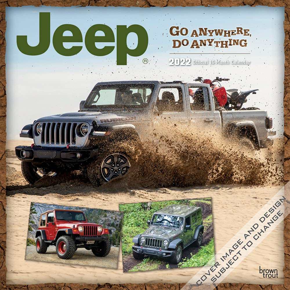 Image for Jeep 2022 12 x 12 Inch Monthly Square Wall Calendar, Offroad Motor Car
