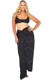 66260e6078 Back From Bali Womens Plus Size Sarong Swimsuit Cover up Embroidered Beach  Wear Bikini Wrap Skirt
