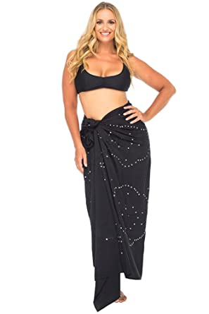 80f2ab44d Back From Bali Womens Plus Size Sarong Swimsuit Cover Up Embroidered Beach  Wear Bikini Wrap Skirt