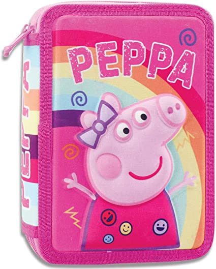 Plumier Doble 3D De Peppa Pig (5205698477195): Amazon.es: Oficina y papelería