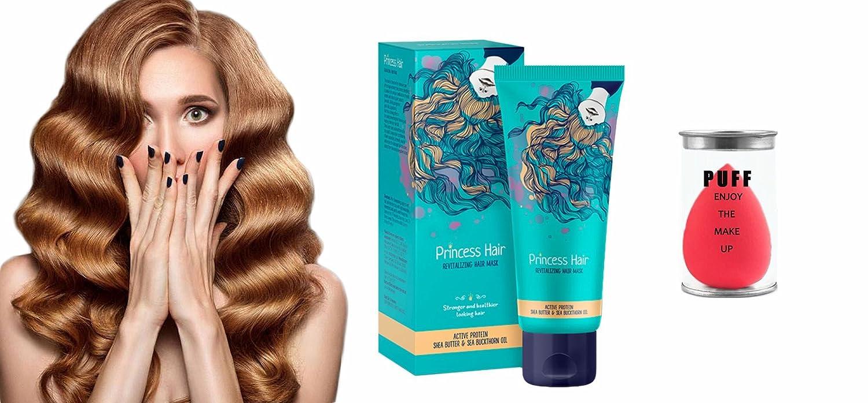 Máscara para el cabello para Cabello frágil y anti-caída del cabello - Mascara de cabello by Hendel's Garden Princess Hair -75ml+ Aplicadores de polvos