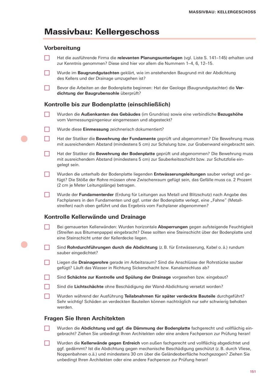 Bauherren Praxismappe Alle Abnahmen Checklisten Terminplanung Und