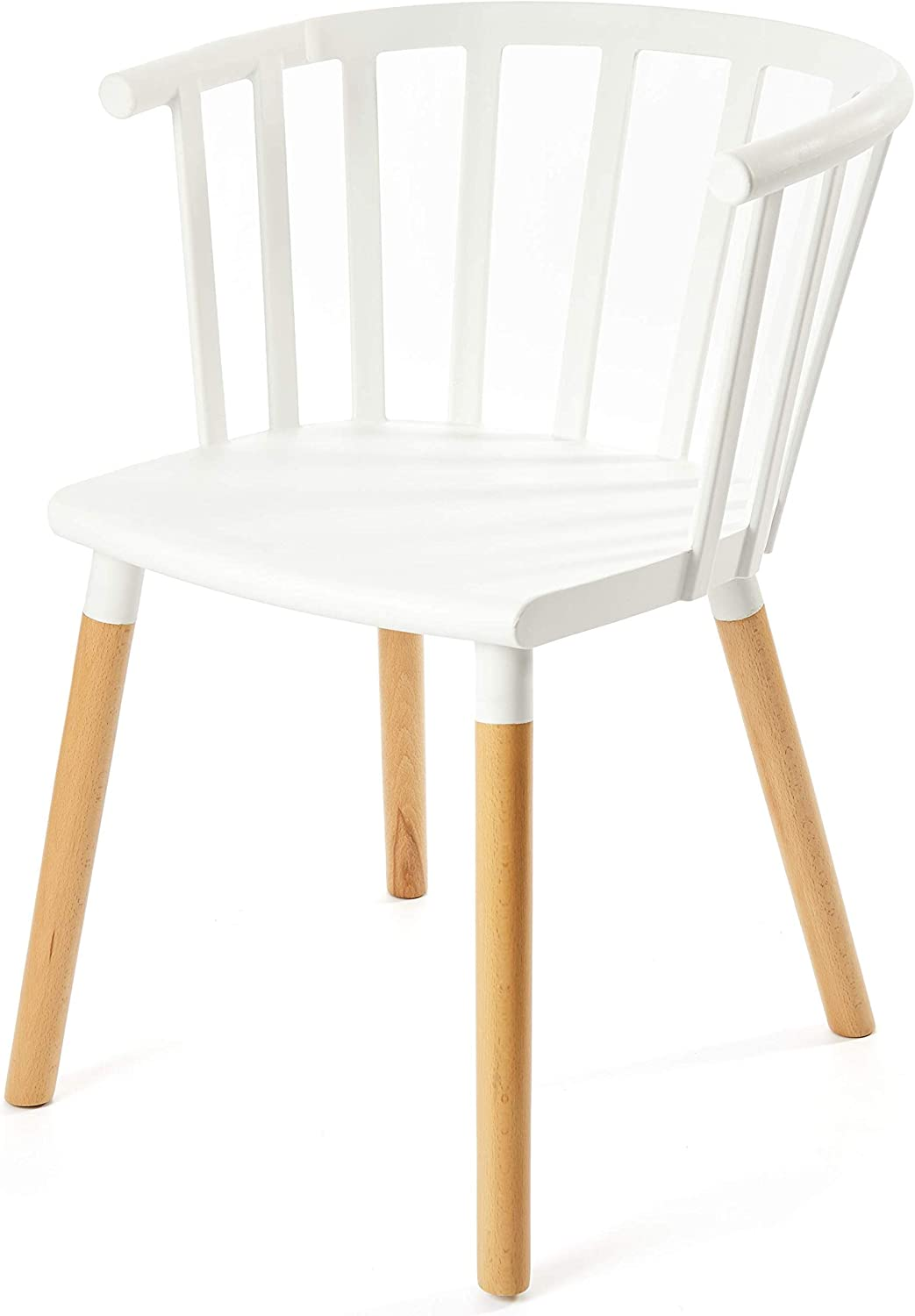 Kvell Kaptain Dining Chair, Pure White