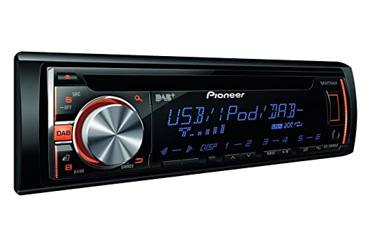 Pioneer DEH-X6600DAB - Radio RDS con CD para coches (USB), negro
