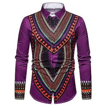Camisa de hombre Traje con estampado floral de Dashiki ...