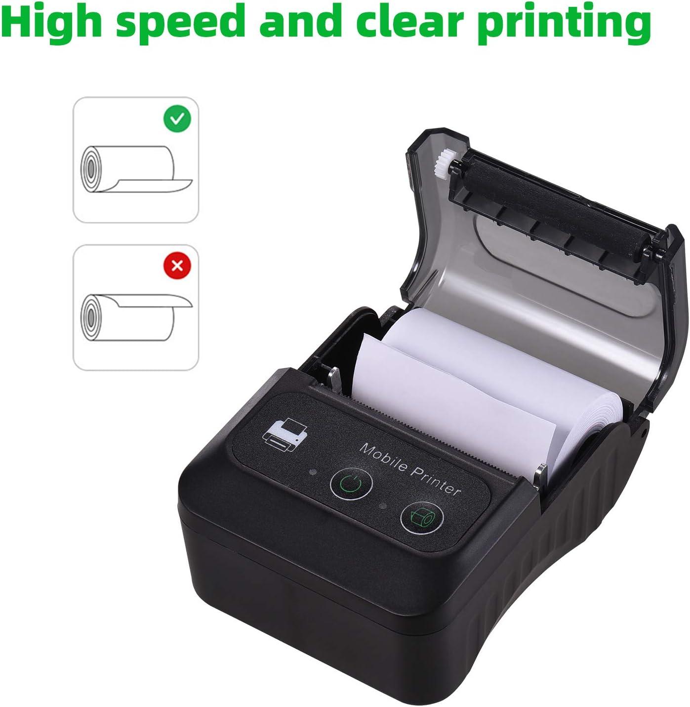 Aibecy Thermodrucker kabellos BT 58 mm USB Bill POS mobiler Drucker unterst/ützt ESC//POS Druckbefehl kompatibel mit Android//iOS//Windows f/ür kleine Gesch/äfte Restaurants Einzelhandelsgesch/äfte