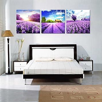 Amazon.de: ezon-ch Modern Art Lavendel Scenery Dekoration ...
