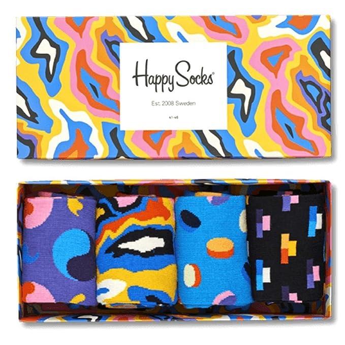 Paquete De Regalo De Calcetines Happy Socks Pack De 4 Ladrillos/píldoras/mri/yin Y El Yang Masculino, Azul/púrpura/azul Marino Un Tamaño: Amazon.es: Ropa y ...