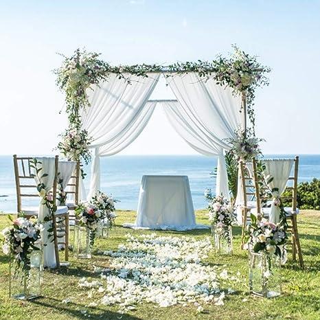 Ni & Ya 5 m x 1,35 m Swag DIY tela de organza boda mesa fiesta decoración para el hogar escalera Bow faldón de cama – 30 color elegir: Amazon.es: Juguetes y juegos