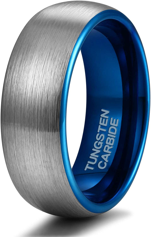 Shuremaster 4mm 6mm 8mm Tungsten Ring Wedding Band for Men Women Engraved I Love You Matte Brushed Comfort Fit Size 4-15