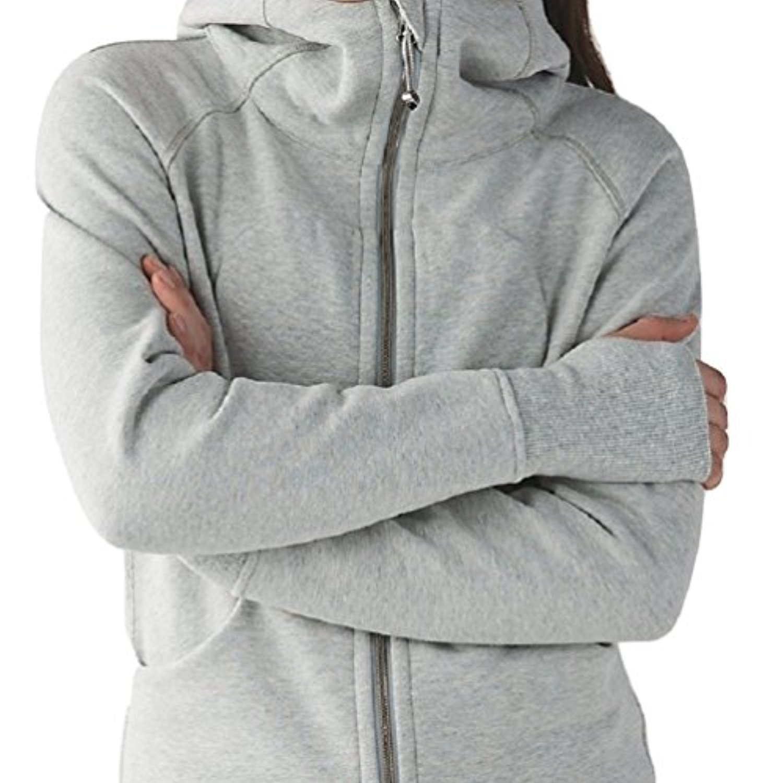 Lululemon Scuba Hoodie III (8, Heathered Light Grey)