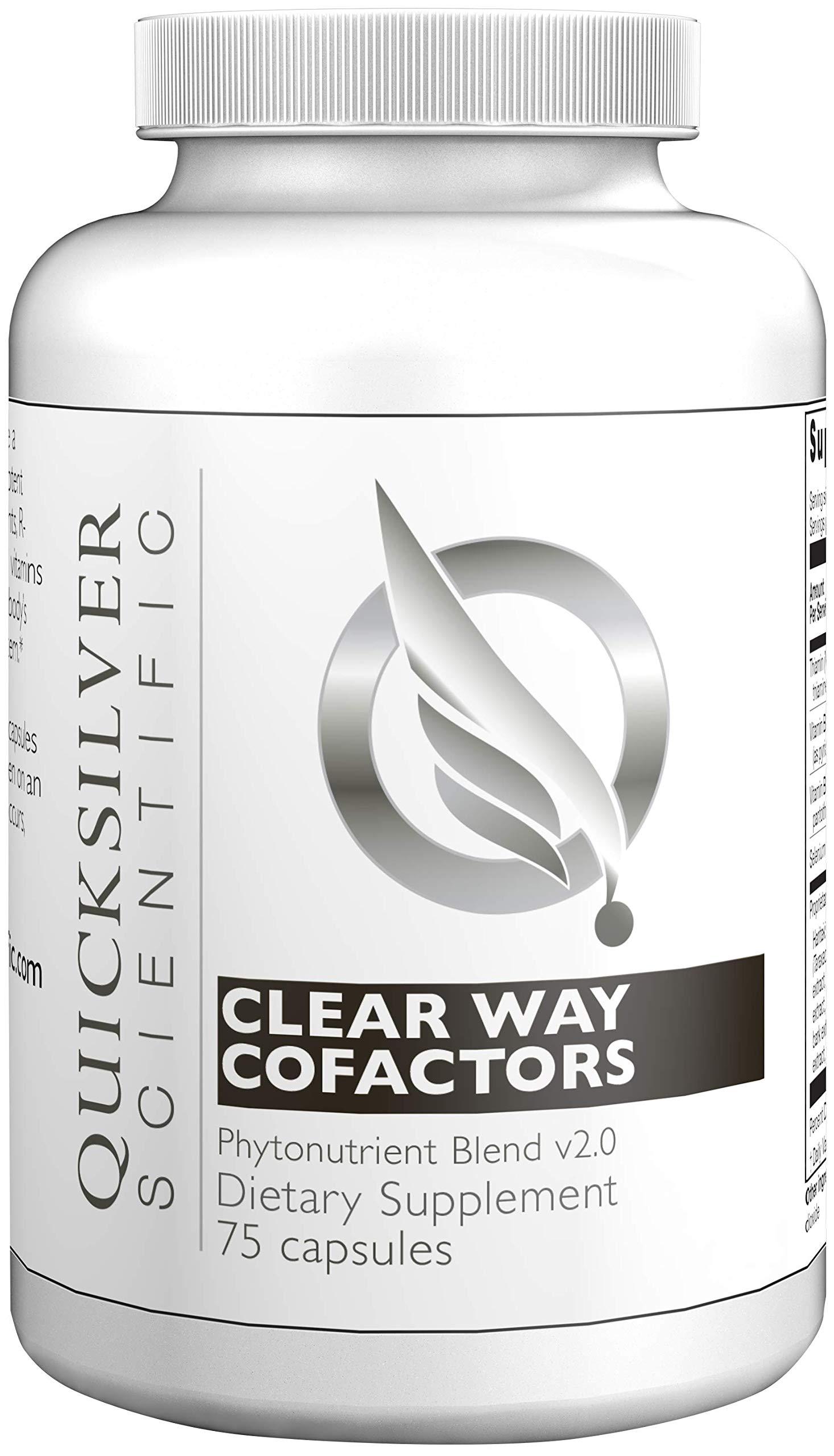 Quicksilver Scientific Clear Way Cofactors - Nattokinase, Milk Thistle + B Vitamins Phytonutrient Antioxidant Cleansing Support (75 Capsules) by Quicksilver Scientific