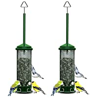 """Brome 1055 Squirrel Buster Mini 4.4""""x4.4""""x21"""" Wild Bird Feeder with 4 Metal Perches, 3/4qt/1.3lb Seed Capacity"""