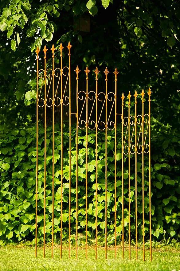 Biombo de parrilla de hierro Completo enrejado celosía separador de 3 piezas: Amazon.es: Jardín