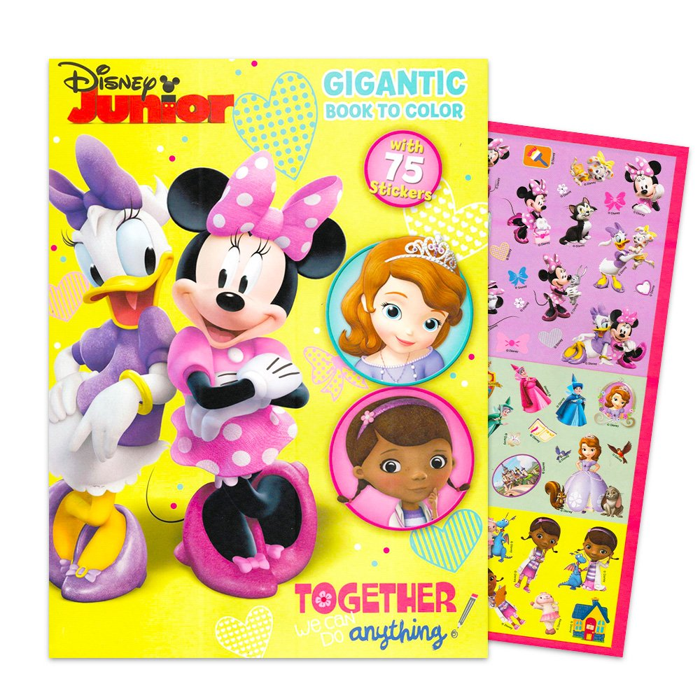 Amazon Disney Junior Gigantic Coloring Book For Girls With Stickers 224 Pages Featuring Sofia The First Minnie Mouse And Doc McStuffins Toys