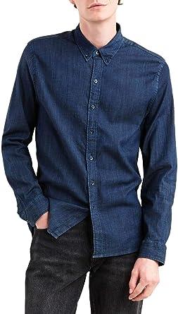 Camisa Levis Pacific Tencel Denim Oscuro Hombre XXL Azul: Amazon.es: Ropa y accesorios