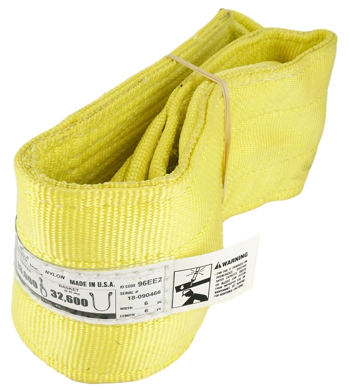 DD Sling (USA Made). 2' wide X (4' to 20' lengths) in Listing! 2 Ply Twisted Eye, Nylon Lifting Slings, Eye & Eye, Heavy Duty (900 webbing), 6,400 lbs Vertical, 5,100 Choker, 12,800 Basket Load Capacity (2inX10ft) Chenango Supply Co. Inc. aC49-NSTE2X10