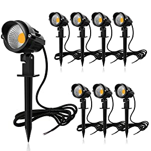 10Pack with Connectors ZUCKEO 10W RGB Color Changing Landscape Lights with Quick Connectors 12V 24V Low Voltage Remote Control LED Landscape Lighting IP66 Waterproof Landscaping Spotlights Yard Lawn Garden Outdoor Lights
