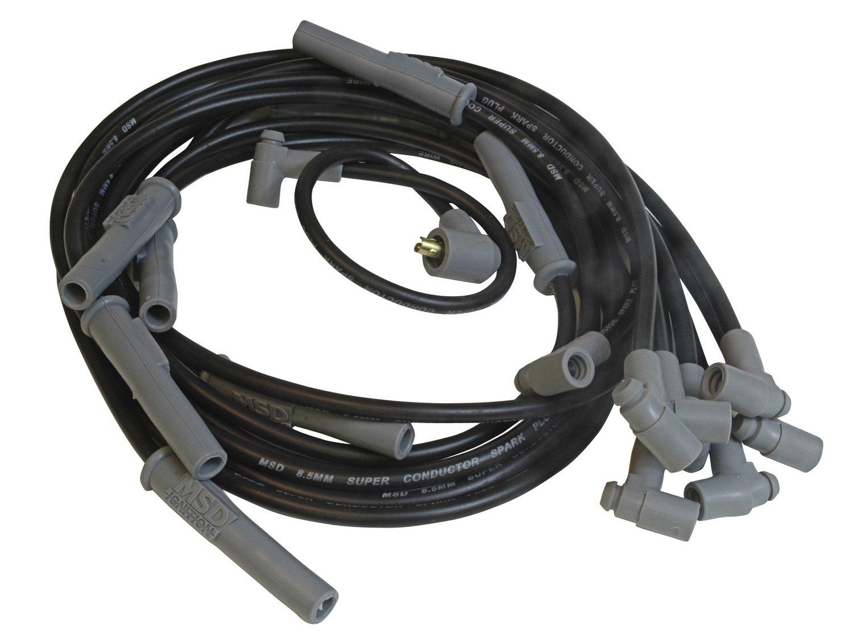 Amazon.com: MSD 32733 8.5mm Super Conductor Spark Plug Wire Set ...