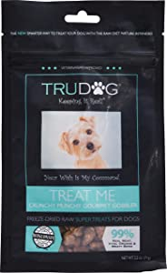 TruDog: Treat Me Turkey - Natural and Healthy Dog Treats for Small, Medium, and Large Dogs - 2.5 oz - Raw, Freeze Dried, and Veterinarian Formulated Snacks - Rich in Protein - Made in The USA