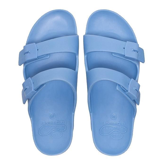 Scholl Bahia Ladies Buckle Sandals Light Blue  Amazon.co.uk  Shoes   Bags 3ac5786234e