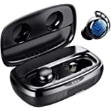Wireless Earbuds, Tribit 100H Playtime Bluetooth 5.0 IPX8 Waterproof Touch Control Ture Wireless Bluetooth Earbuds with Mic E