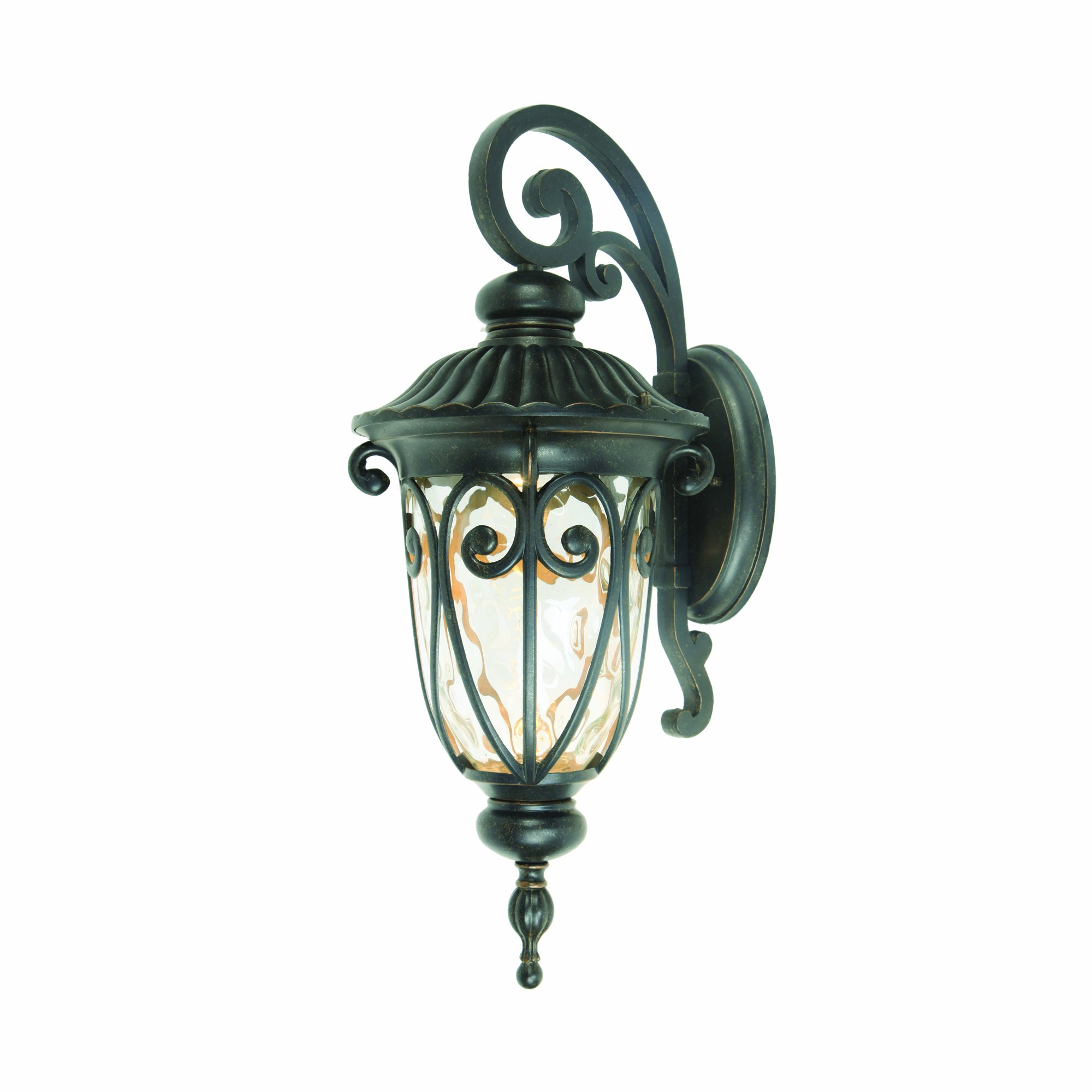Yosemite Home Decor E519MDORB 1 Light Led Exterior with Clear Medium Sized Glass, Oil Rubbed Bronze Finish by Yosemite Home Decor