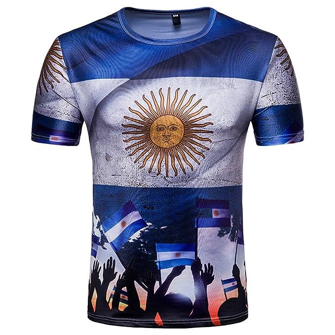 SEVENWELL Copa Mundial Football Rusia 2018 Arriba Estampado Camiseta Camiseta Soccer Fans Hombres y Mujeres: Amazon.es: Ropa y accesorios