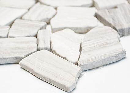 Da cucina rete mosaico piastrelle rottura ciot uni grigio strisce