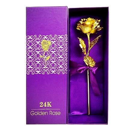 Amazoncom Justfund 24k Gold Rose Foil Flowers Rose Presents For