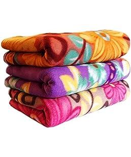 Gadgets Appliances Fleece Warm Bed Single Blanket (Multicolour) - Set of 2