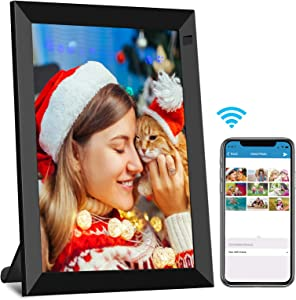 8 Inch WiFi Digital Photo Frame Full HD IPS Touch Screen, Digital Picture Frame with Motion Sensor, Auto-Rotate, 16GB Storage, Share Photo & Video via App, Email, Facebook, Twitter, Wall Mountable