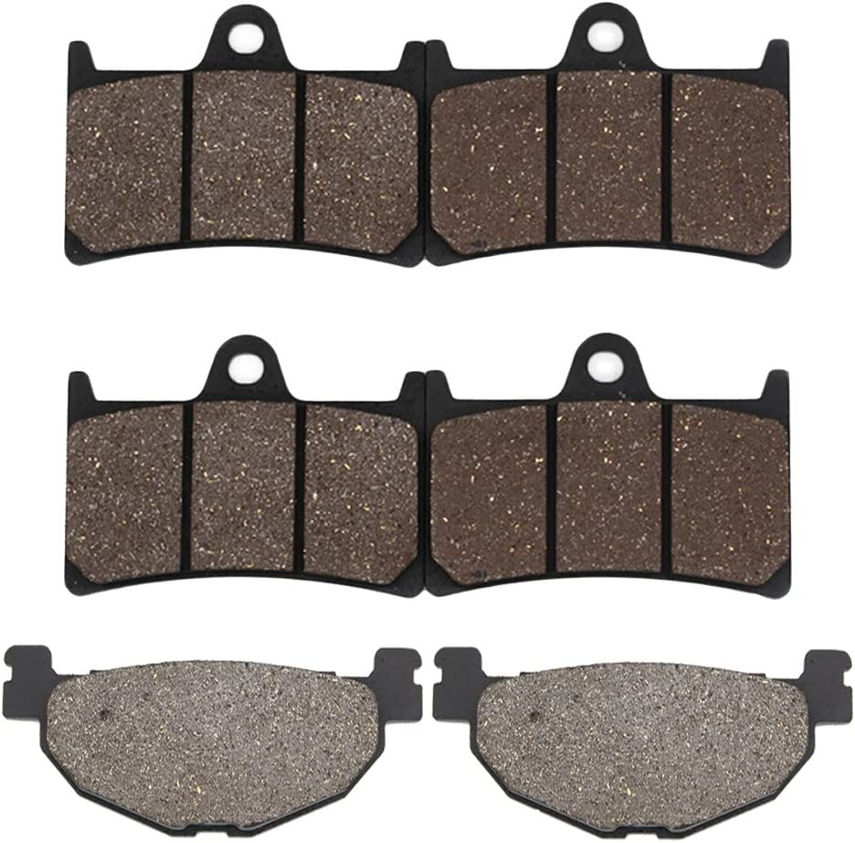 Cyleto Front and Rear Brake Pads for YAMAHA XP500 XP 500 T-Max Tmax 500 2009 2010 2011