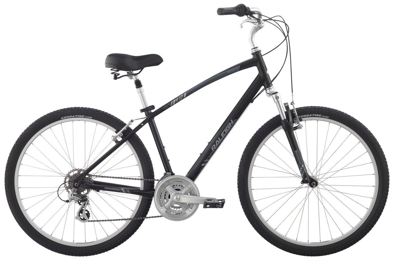 Raleigh Bikes Venture 3.0 Comfort Bike, 17'' /Md, Black, 17'' / Medium