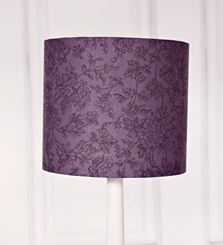 Amazon grey lampshade purple lamp shade floral lampshade grey lampshade purple lamp shade floral lampshade drum lampshade fabric lampshade mozeypictures Images