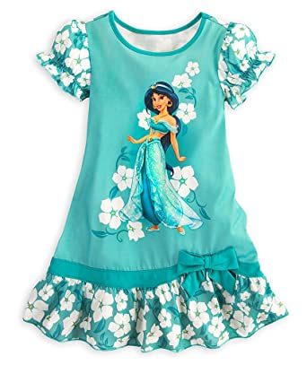 Image Unavailable. Image not available for. Color  Disney Store Girls  Princess Jasmine Nightgown Size XS 4  Aladdin Ruffled Nightshirt 5bdb76b27