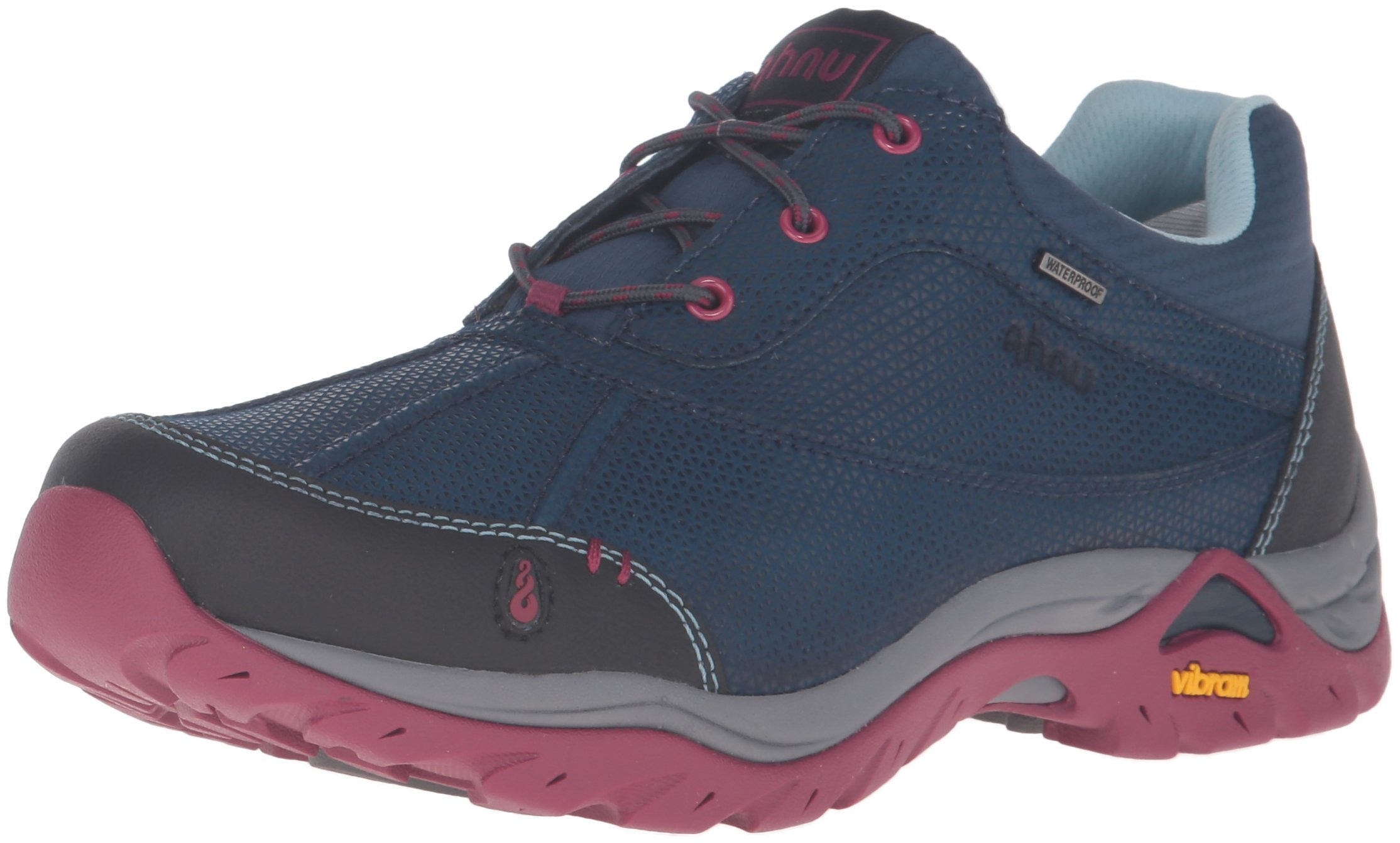 Ahnu Women's Calaveras Waterproof Hiking Shoe, Blue Spell, 9.5 M US