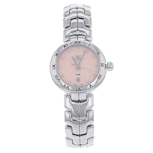 TAG Heuer Link WAT1415. BA0954 Factory diamantes acero cuarzo reloj de pulsera para mujer: Amazon.es: Relojes