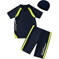 KID1234 Swimsuits for Boys - 2 Piece Set Boys Swimsuit,Wetsuit for Kids 4-12 Years